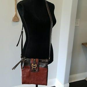 Tignanello brown leather Crossbody purse